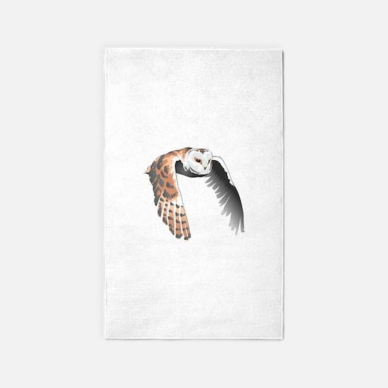 BARN OWL IN FLIGHT Area Rug