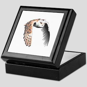 BARN OWL IN FLIGHT Keepsake Box