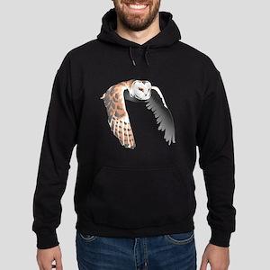 BARN OWL IN FLIGHT Hoodie