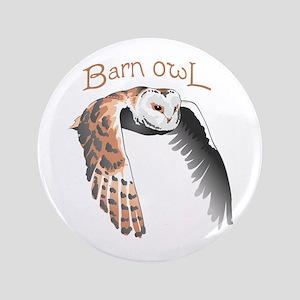 """BARN OWL 3.5"""" Button"""
