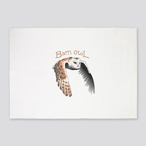 BARN OWL 5'x7'Area Rug