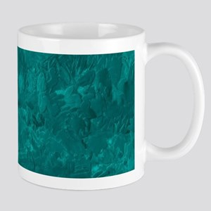 one color painting,aqua Mugs