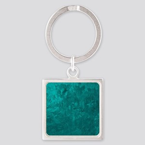 one color painting,aqua Keychains