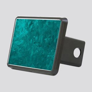 one color painting,aqua Rectangular Hitch Cover