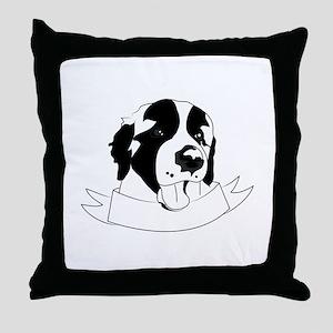 St Bernard Throw Pillow