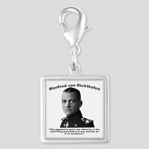 Richthofen: Aggressive Silver Square Charm