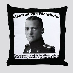 Richthofen: Aggressive Throw Pillow