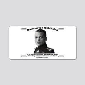 Richthofen: Aggressive Aluminum License Plate