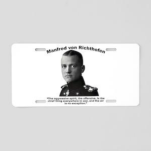 Richthofen: Aggressive Aluminum License Plate
