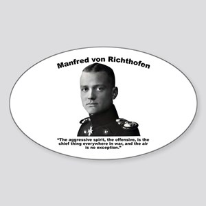 Richthofen: Aggressive Sticker (Oval)