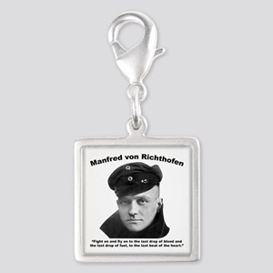 Richthofen: Fight Silver Square Charm