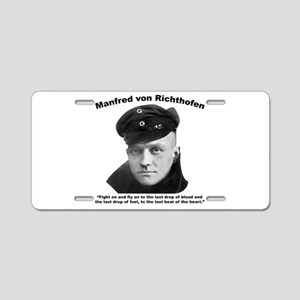 Richthofen: Fight Aluminum License Plate