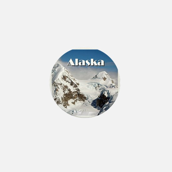Alaska Range mountains, Alaska, USA (c Mini Button