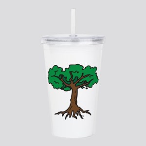 TREE WITH ROOTS Acrylic Double-wall Tumbler