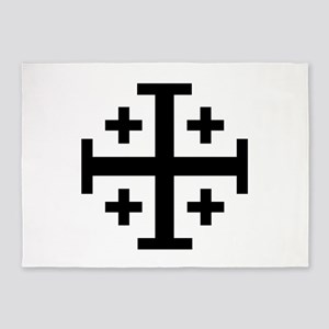 Crusader cross 5'x7'Area Rug