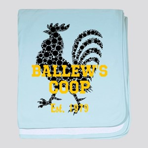 Rooster Personalize baby blanket