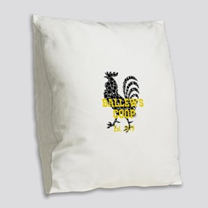 Rooster Personalize Burlap Throw Pillow