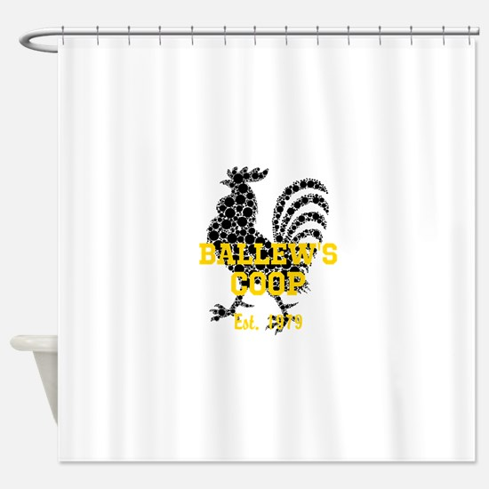 Rooster Personalize Shower Curtain