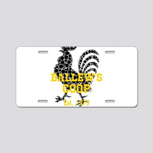 Rooster Personalize Aluminum License Plate