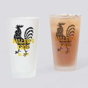 Rooster Personalize Drinking Glass