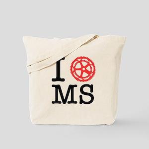 I Bike MS Tote Bag