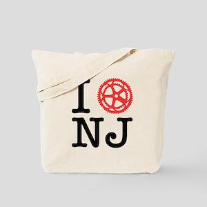 I Bike NJ Tote Bag