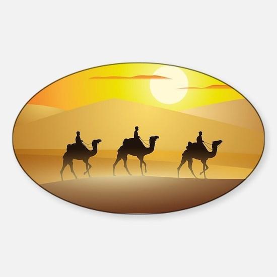 caravan Sticker (Oval)