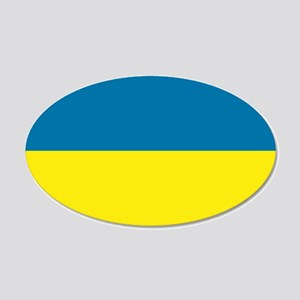 Ukraine flag 20x12 Oval Wall Decal