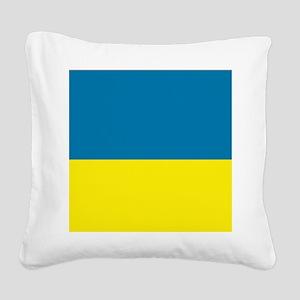 Ukraine flag Square Canvas Pillow