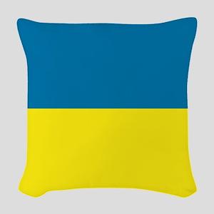 Ukraine flag Woven Throw Pillow