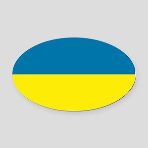 Ukraine flag Oval Car Magnet