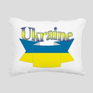 Ukrainian ribbon Rectangular Canvas Pillow