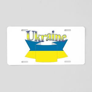 Ukrainian ribbon Aluminum License Plate