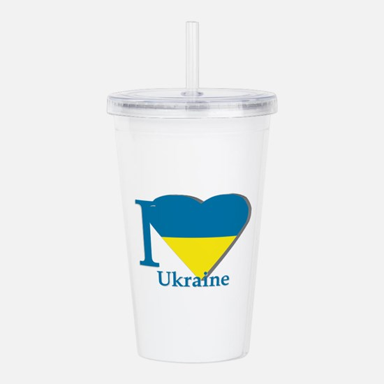 I love Ukraine Acrylic Double-wall Tumbler