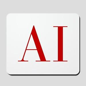 AI-bod red2 Mousepad