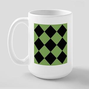 Colorful Checkerboard Large Mug