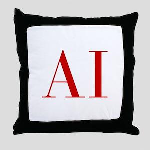 AI-bod red2 Throw Pillow