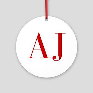 AJ-bod red2 Ornament (Round)