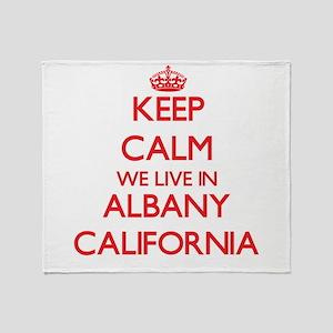 Keep calm we live in Albany Californ Throw Blanket