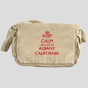 Keep calm we live in Albany Californ Messenger Bag