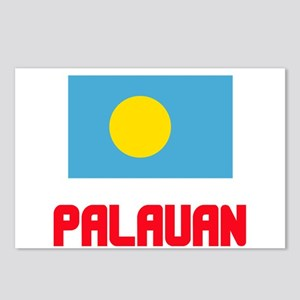Palauan Flag Design Postcards (Package of 8)