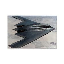 B2 Stealth Bomber In Flight Rectangle Magnet