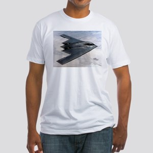 B2 Stealth Bomber In Flight Fitted T-Shirt