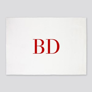 BD-bod red2 5'x7'Area Rug