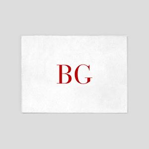 BG-bod red2 5'x7'Area Rug