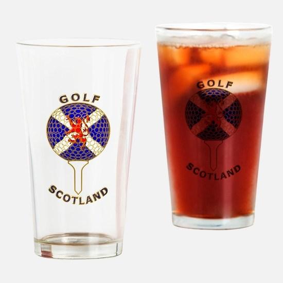 Golf Scotland Ball and Tee Drinking Glass