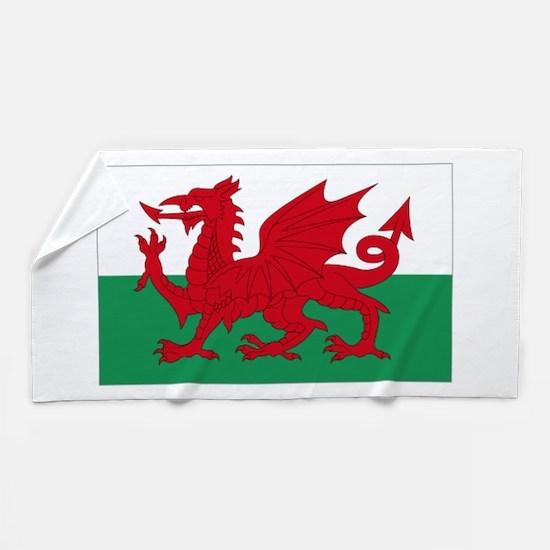 Wales flag decorative Beach Towel