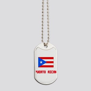 Puerto Rican Flag Design Dog Tags