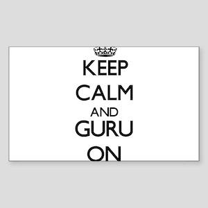 Keep Calm and Guru ON Sticker
