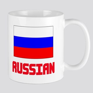 Russian Flag Design Mugs